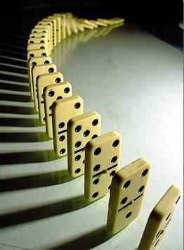 Nuovo record nel domino