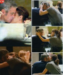 Canalis e Clooney si baciano in pubblico