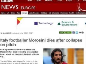 La morte di Morosini ripresa in tutto il mondo