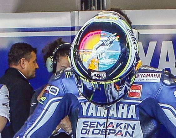 Valentino Rossi ricorda Simoncelli..sul casco