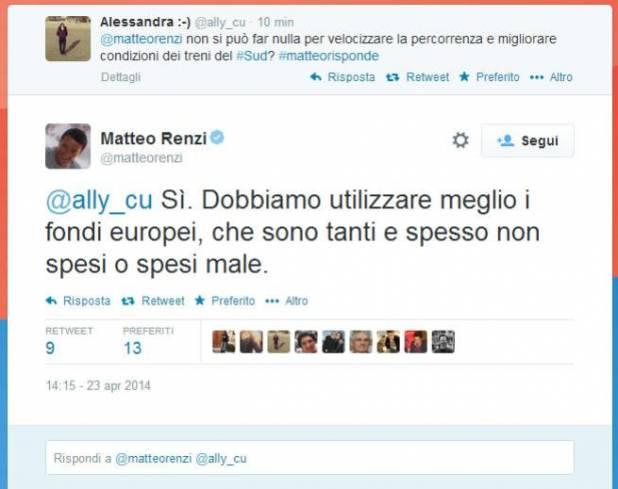 Matteo Renzi risponde a tutto campo