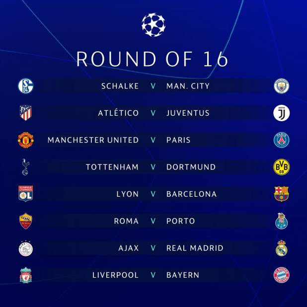 I sorteggi di Champions League